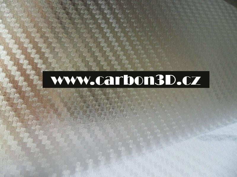 Transparentní 3D karbon samolepící folie - 127cm x 15m