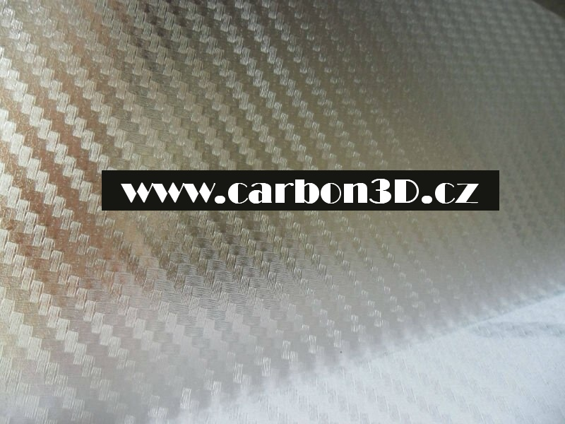 Transparentní 3D karbon samolepící folie - 127cm x 20m