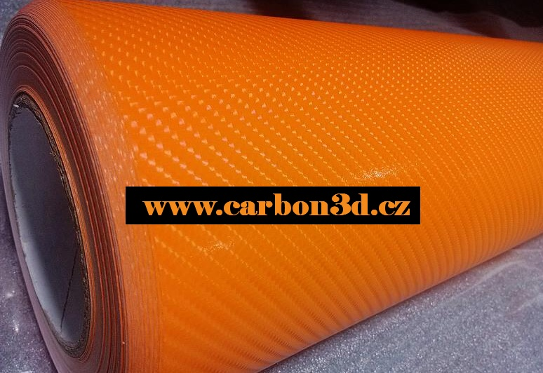 4D KARBON FOLIE 4D Oranžová 152cm x 15m