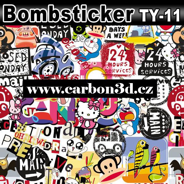 Stickerbomb 3D samolepící folie 2014 - 152cm x 20m