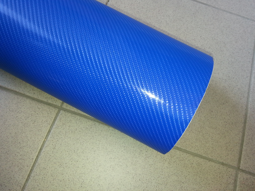 152cm x 10m KARBON FOLIE 4D Modrá