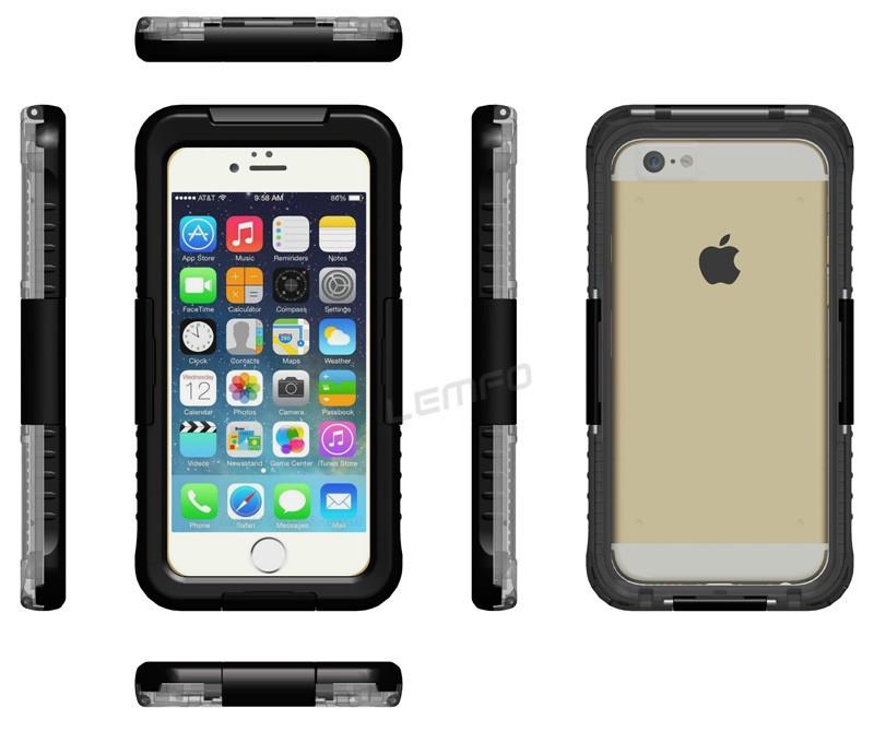 Voděodolný vodotěsný obal kryt pouzdro pro iPhone 6 (4.7) IP-8 - černý