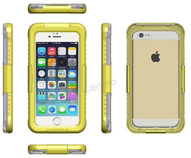 Voděodolný vodotěsný obal kryt pouzdro pro iPhone 6 (4.7) IP-8 - modrý 6e3c82de7bb
