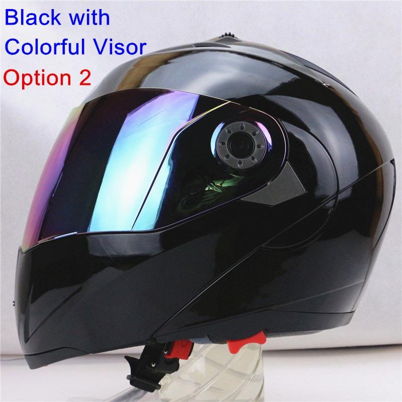 Moto helma s chameleon sklem J-105