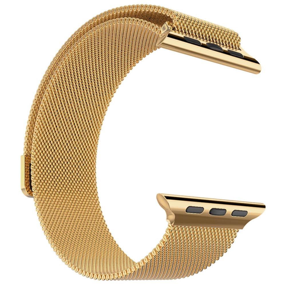 Ocelový magnetický řemínek pro iWatch - Zlatý 38mm