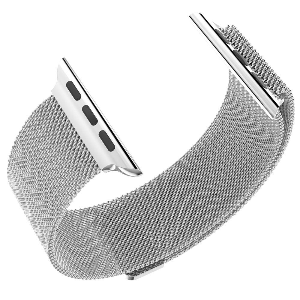 Ocelový magnetický řemínek pro iWatch - Stříbrný 38mm