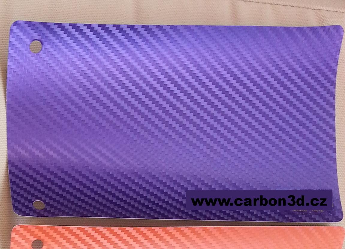 PURPUROVÁ CARBON KARBON FOLIE 3D se vzduchovými kanálky 152cm x 10m