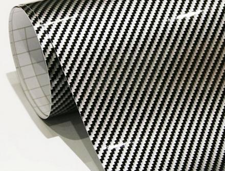 Karbon kevlar lesklÝ karbon | lesklÝ kevlar karbon Černo/stŘÍbrnÝ152cm x