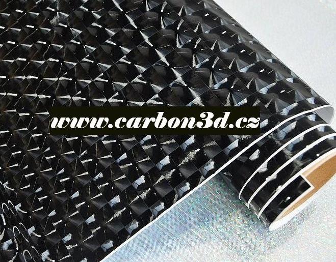 ČERNÁ SAMOLEPÍCÍ 3D FLASH FOLIE 152cm x 3m - Černá