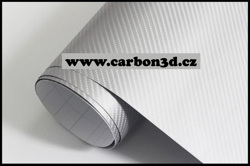 152cm x 10m KARBON FOLIE 4D Stříbrná