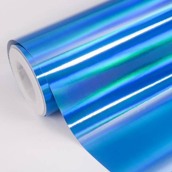 HOLOGRAPHIC CHROM BLUE 152cm x 18m