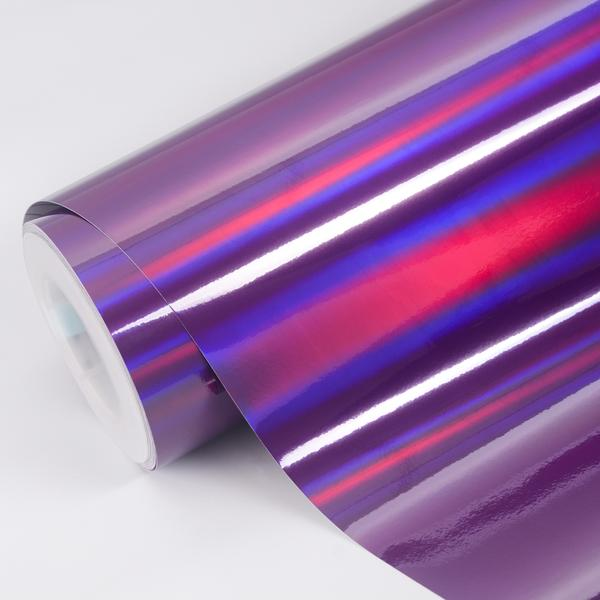 HOLOGRAPHIC CHROM PURPLE 152cm x 18m