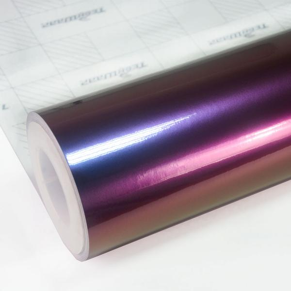RAINBOW DRIFT METALLIC GLOSSY WINERED NEBULA 152cm x18m