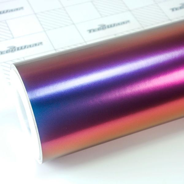 RAINBOW DRIFT METALLIC MATTE WINERED NEBULA 152cm x18m