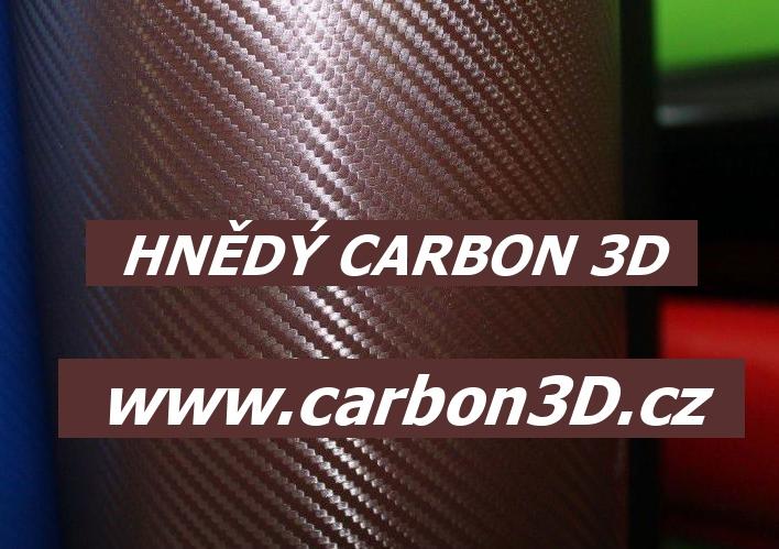 152cm x 30m HNĚDÁ CARBON KARBON FOLIE 3D - se vzduchovými kanálky